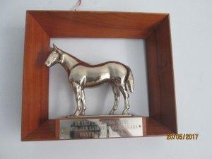 chú ngựa chiến bằng kim loại ,đoạt giải vô địch thế giới tổ chức ở canada 1961