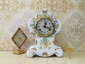 Đồng hồ để bàn fraoz Hermle men sứ trắng xuất sứ Đức