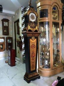 Đồng hồ quả lê Boule louis XIV Pháp có đế 3 lổ chơi nhạc tuyệt sắc giai nhân