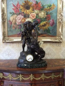 Đồng hồ tượng thợ săn sx Pháp 1900