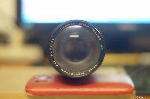 Lens quay tay 80-250 F4.5 Lenmar zoom Marco MC ngàm OM