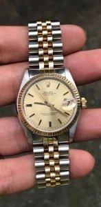 Rolex 68173 Automatic đơmi vàng đúc 14K zin Thuỵ Sỹ 100% Size 31mm