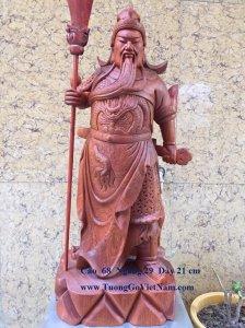 Tượng Quan công bằng gỗ quý hiếm siêu vip
