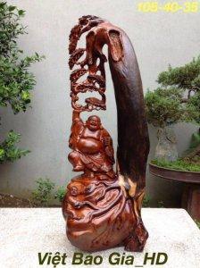 Di lặc thế gỗ hương liền khối