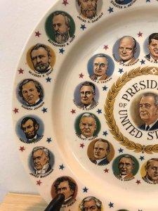 a Mĩ GGiao lưu 1 đĩa kèm chân đế In hình 35 vị tổng thống
