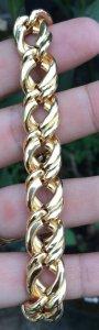Lắc tay vàng ngoại 14k ( hàng bọng ) - Dài: 22 cm - Nặng: 26,77 gam