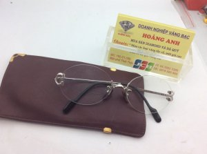 Mắt Kính Cartier Trinity Decor rimless Platinum made in France