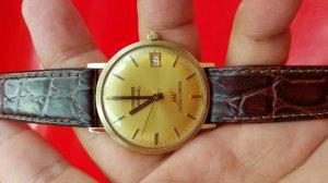 Longines ultra sấm sét vỏ bọc vàng, mặt vàng xưa chính hãng thụy sỹ