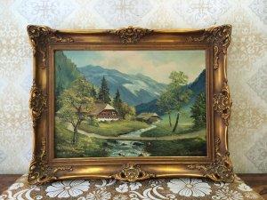Tranh Phong cảnh Châu âu sơn dầu trên vãi bố