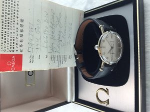 Omega Seamaster Automatic solid 14k/585 White gold Cal550 dial's diamonds
