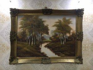 Tranh sơn dầu phong cảnh Châu Âu 1950 Germany.