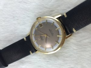 Omega Seamaster Deville Automatic solid 18k gold Cal562 dial's Pie Pan Circle