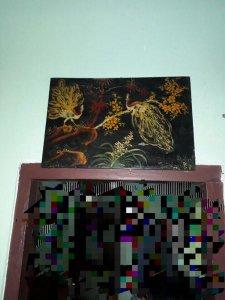 2 tấm tranh sơn mài lành đẹp.