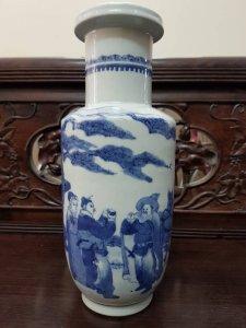 Bình Xanh Trắng Kangxi Rulo