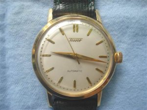 TISSSOT & FILS 28.5-21 - N 60006-1, automatic 14K gold, thập niên 50,
