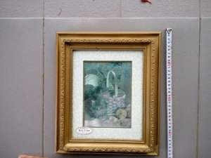 Bức tranh lấp lánh sơn mài đựng móc khoá hình 2 con mèo