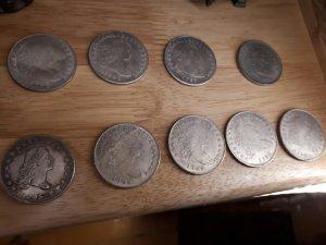 đồng xu cổ Dollar Mỹ 1797 và 1795