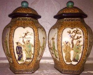 Cặp chóe lục giác Biên Hòa xưa