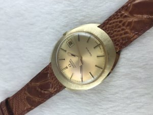 Omega Genève Automatic solid 14k gold Cal565 dial's Yellow Gold