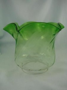 Antique Emerald Green Glass