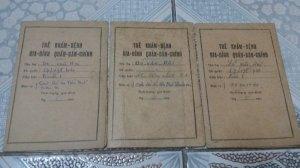 3 thẻ khám bệnh GDQN chính 1967
