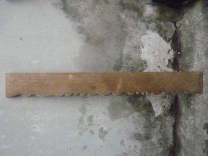 Tấm gỗ mộc dài: Mai hồng
