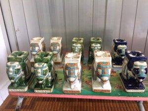 Giao lưu 10 con voi gạt tàng thuốc biên hòa cao 15cm , hàng sản xuất thập niên 90, xuất khẩu thời ba