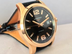 Longines Conquest 18k Pink Gold