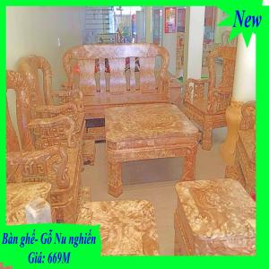 Bộ Bàn ghế bằng gỗ Nu Nghiến 100%- Sản Phẩm Tây Bắc