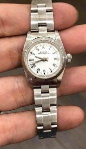 """Rolex 67230 đời mới """"bít lỗ"""", mặt dạng """"men Trắng La mã"""" sang trọng zin Rolex Thuỵ Sỹ"""