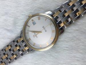 Omega Prestige DeVille Quartz demi 14k gold & Bracelet demi