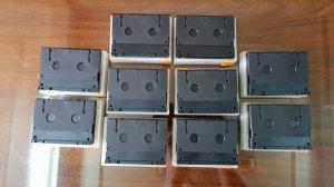 Vài cuộn băng DAT xưa đầy đủ hộp
