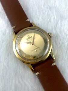 Omega DeLuxe Constellation Chronometre Automatic Pie Pan solid 18k gold Case & Dial Cal354 Bumper