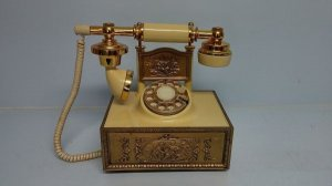 Vintage French Style Rotary Telephone American Telecommunications Corp