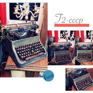 Máy đánh chữ cổ lưng gù - màu thời gian