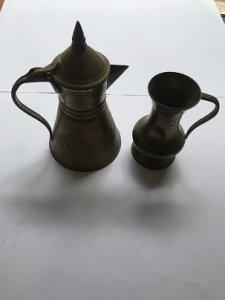 2 Cái Bình Bằng Đồng MADE IN INDIA -Đồ Xưa