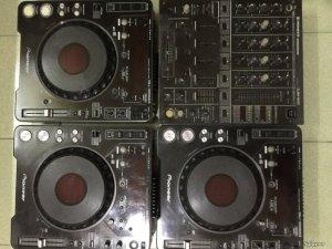 Bộ CDJ PIONEER 1000 MK3 + MIXER PIONEER 500