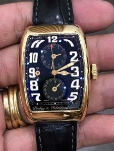 """Dubey & Pchaldenbrand giờ GMT, giờ """"Ngày-Đêm"""", lịch ngày vỏ vàng Hồng đúc 18K zin"""