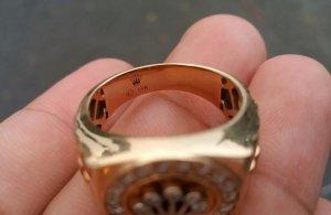 Rolex hàng ngoại vàng hồng 14k. Size 19m