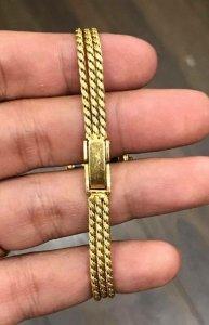 Waltham dây vỏ vàng đúc 18K zin Thuỵ Sỹ toàn bộ 100% size 19mm