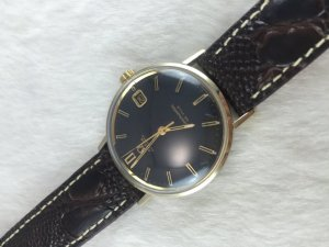 Omega Seamaster Deville Automatic demi 14k Cal563 dial's Black Sand