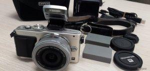Olympus E-PL6 + lens kit 14-42EZ, New 99%
