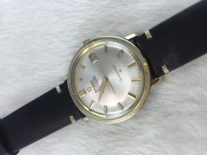 Omega Constellation 250 Chronometer Automatic demi 14k Cal561 dial's White Pearl