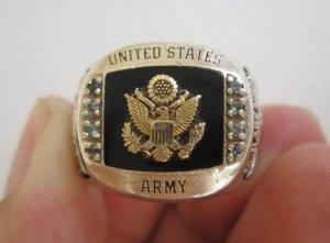 Nhẫn bạc khối Cựu binh bộ binh tham chiến tại Việt Nam, họa tiết rồng hoành tráng, cực đẹp