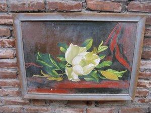 Tranh sơn dầu sắc hoa