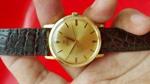 Omega seamaster vỏ vàng khối 18k mặt số vàng khối xưa chính hãng