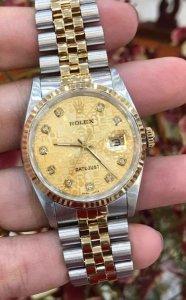 """Rolex 16233 """"mặt Vi tính Hột lớn"""" zin Thụy Sỹ Size 36mm"""