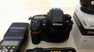 HCM-Cần bán Nikon D800 98% + Sigma 35mm F/1.4 Art for Nikon 99%