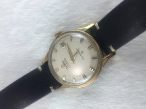 "Omega Constellation Chronometer Automatic Pie Pan ""dog leg"" demi 14k Cal561 dial's White Ivory"