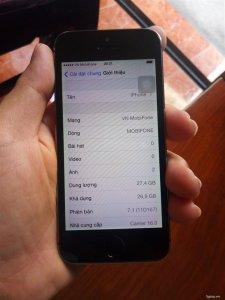Apple Iphone 5S 32 GB Xám quốc tế chạy OS 7.1 cổ !